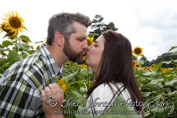 Sunflower Farm Engagement Cumming GA