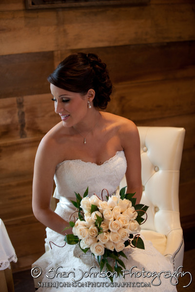 Bride Portrait in bridal suite, wedding in Forsyth County, Georgia