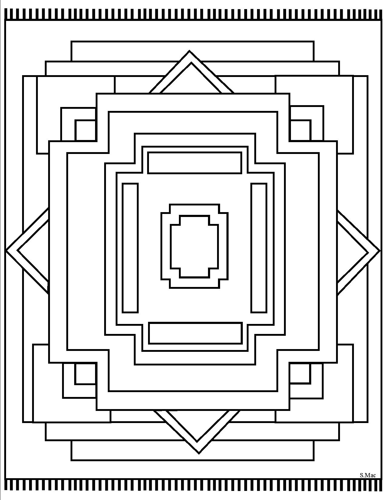 Top 30 Free Printable Geometric Coloring Pages Online | 1650x1275