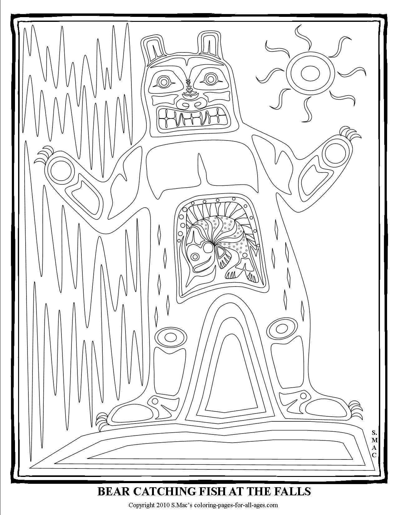 Native American Drum Coloring Pages Coloring Pages
