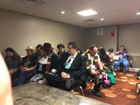 The audience during my panel - DOCTOR WHO AND RELIGION.