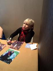 Katy Manning talks with my friend Sabrina. Katy played former Third Doctor companion Jo Grant.
