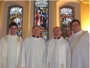 With the Clergy of St. Nahi's, after Sunday's Service