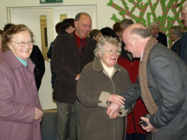 Frances with Miss Murtagh (former teacher in Monasteraden) and Paul Kelly