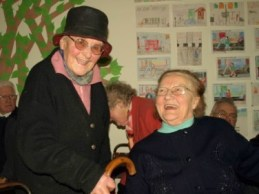 Good friends! Felicty MacDermot shares joke with Frances
