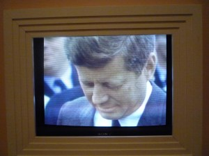 JFK speaking at Shannon Airport.   Said he'd be back in the Spring