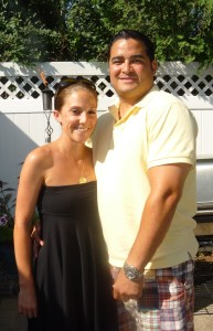 My cousin Sarah and her husband-to-be Be
