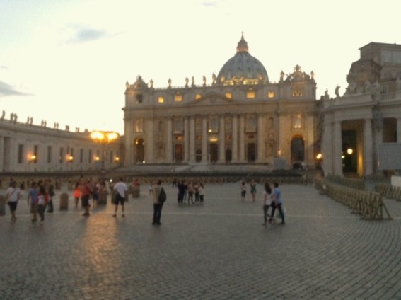 St Peter's at a quieter time