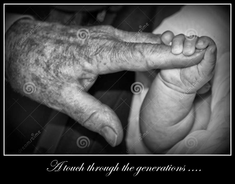 http://www.dreamstime.com/stock-images-old-retired-man-hands-holding-newborn-infant-one-hand-black-white-image41522214