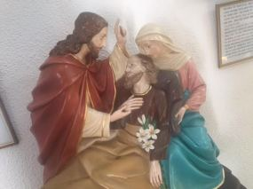 Statue of the death of St Joseph