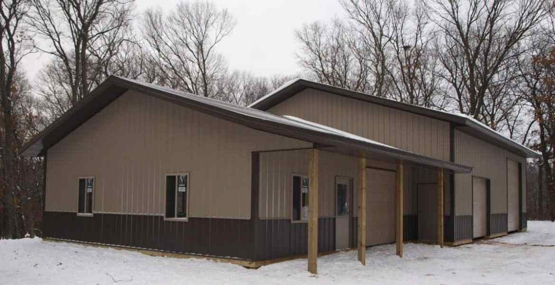 Garage-polebuilding