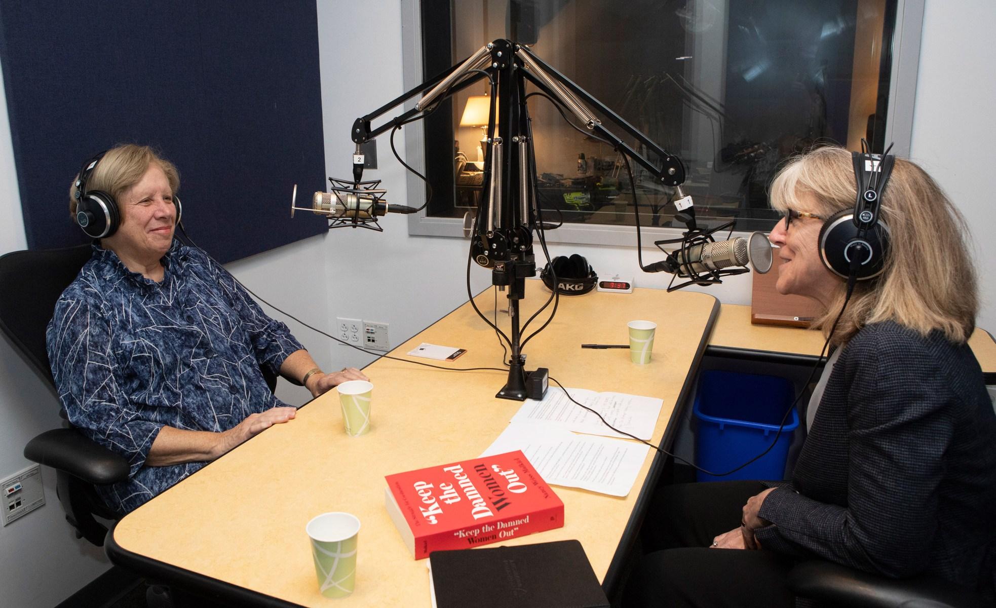 Nancy Weiss Malkiel in the studio