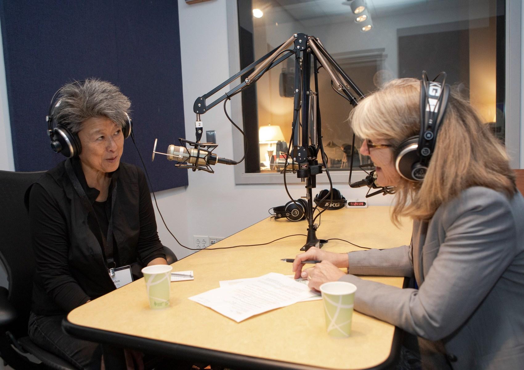 Helen in the studio