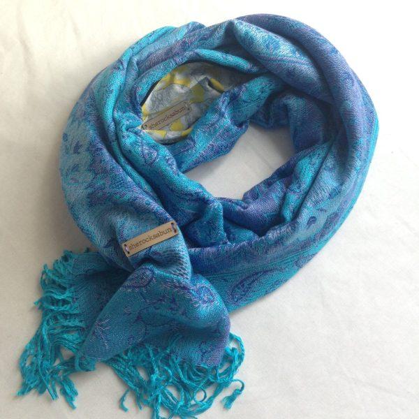 sherocksabun Thai Pashmina scarf with zippered pocket