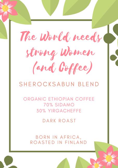 Sherocksabun coffee blen - organic certified Ethiopian coffee