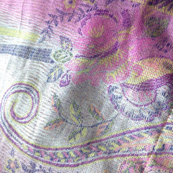 pink swirls pocket scarf by sherocksabun