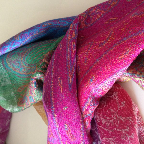 Color me happy silver pocket scarf