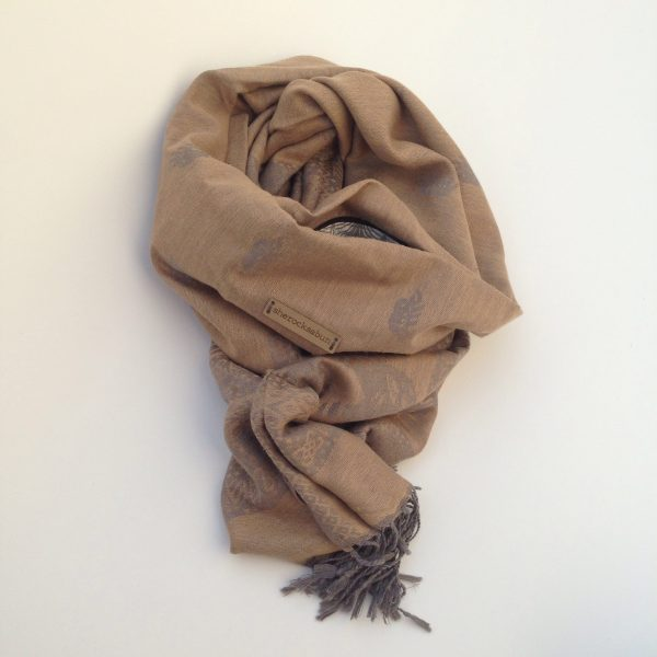 Golden sand pocket scarf by sherocksabun