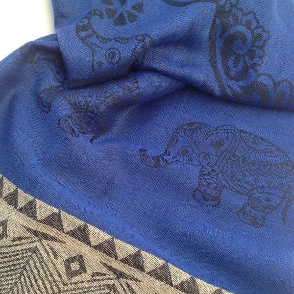Dark-blue grey pocket scarf by sherocksabun
