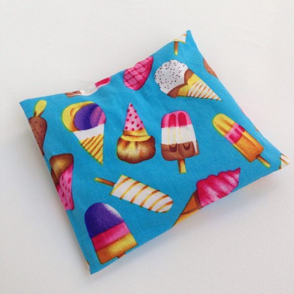 Ice cream rICE pack, hot and cold pack for small bumps and bruises. Handmade in Finland by sherocksabun