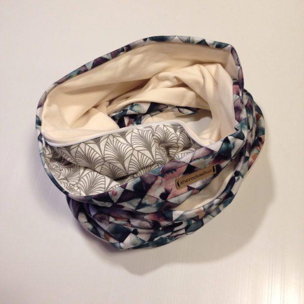 Aqua geometrics green pocket scarf by sherocksabun