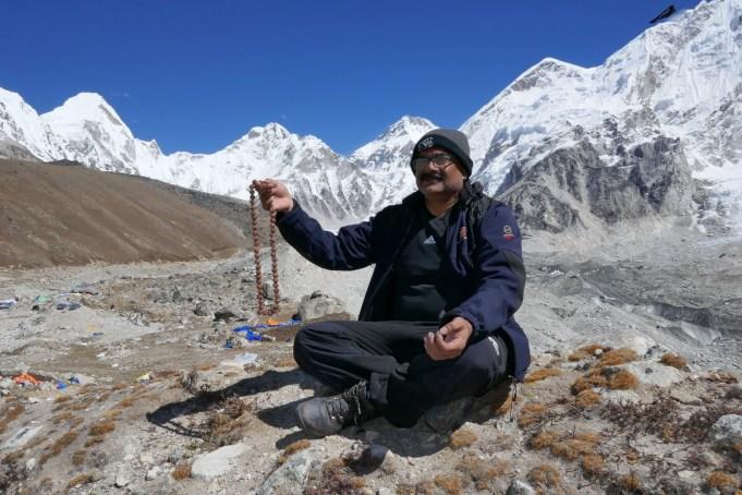 Doctor with Rudraksh Mala in Meditation pose