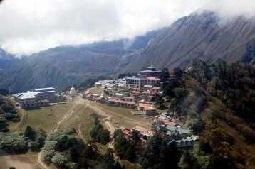 Aerial view of Tengboche Monastery