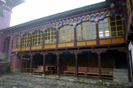 Decorated courtyard