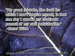 Oscar Wilde on obstinate