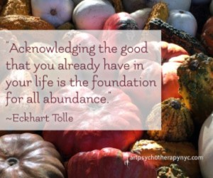 Gratitude quote by Eckhart Tolle