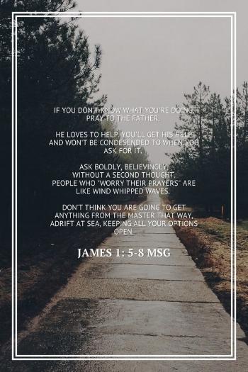 James 1:5-8 MSG