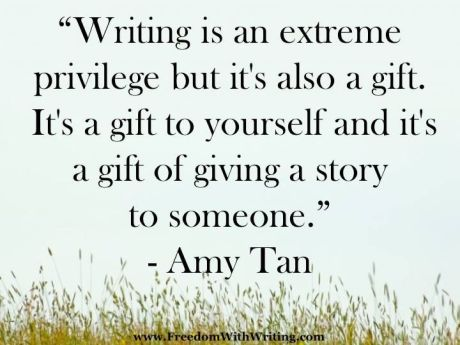 The privilege of writing explained by Amy Tan.