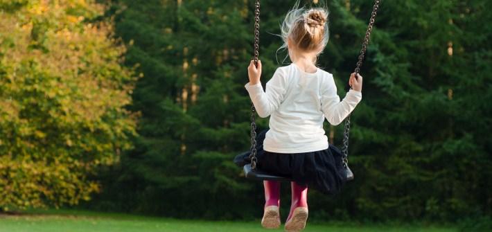 swing, trees, girl, spring, summer