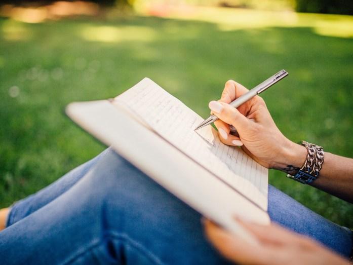 writing, memoir writing tips, handwriting, notetaking, outdoors
