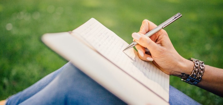 writing, memoir writing tips, handwriting, notetaking, outdoors