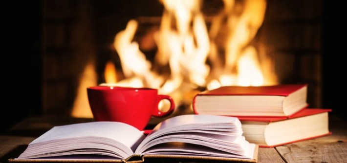 December, wintertime, reading, coffee