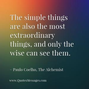 simple things, little things, extraordinary things