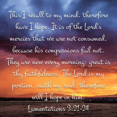 Scripture, Lamentations, verse, hope, trust