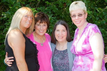 Pam Kroskie, Sherrie, Beth Willis Miller, and Lisa Floyd at the All-Adoptee Boot Camp Live.sm