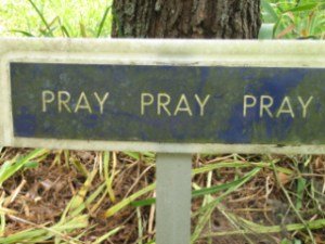 Sign at The Abbey of Gethsemane