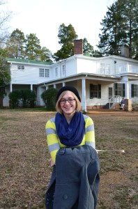 My daughter, the future great writer.  Rowan Oak in the background.
