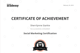 I'm Hootsuite certified!