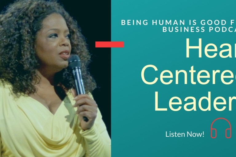 Oprah as a heart-centred leader podcast promo