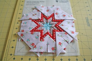 Prairie points in a folded star