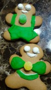 My Gingerbread men looking sharp. Decorated these last Xmas.