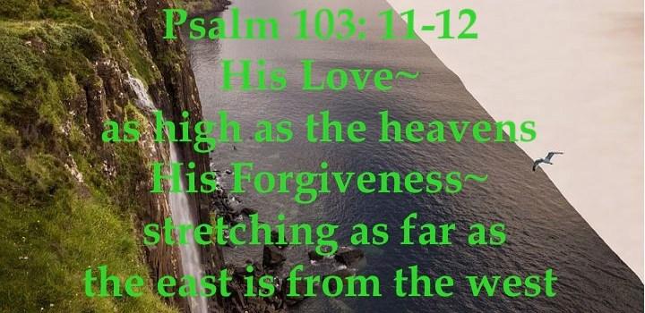 Week # 17 Psalm 103:11-12