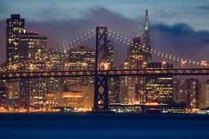 Bay Bridge, Transamerica Building, San Francisco, CA