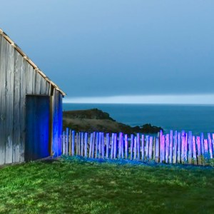 Barn, Fence, Sea, The Sea Ranch, CA