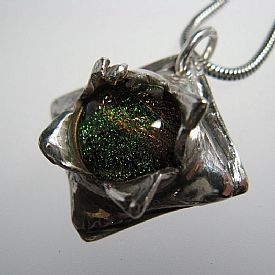 Dichroic-Moon-and-Fine-Silver-Pendant