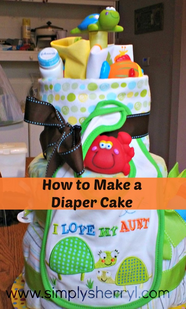 how to make a cloth diaper cake